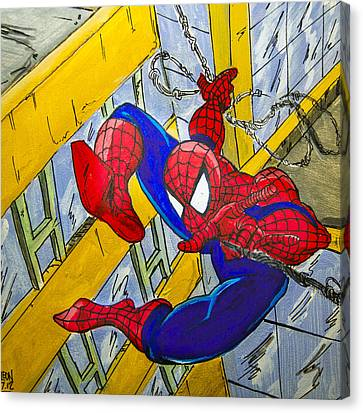 Spidey  Canvas Print by Chris  Leon