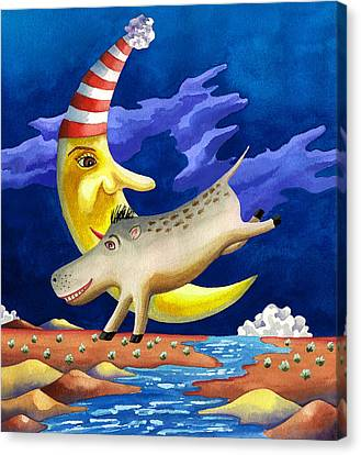Spike The Dhog Arrives Canvas Print by Anne Gifford
