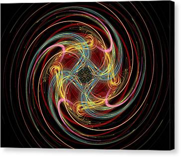 Spin Fractal Canvas Print by Betsy Knapp