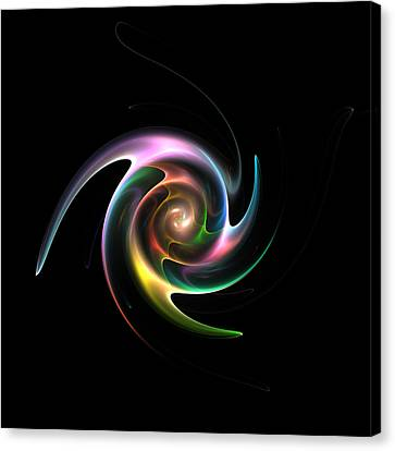Spinning Galaxy Canvas Print by Steve K