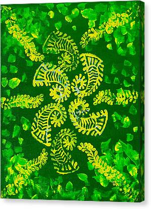Spinning Greens Canvas Print by Farah Faizal