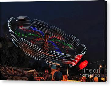 Spinning Lights Canvas Print