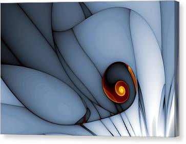 Spiral And Wobbly Lines Canvas Print by Mark Eggleston