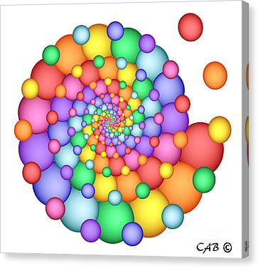 Spiral Celebration Canvas Print