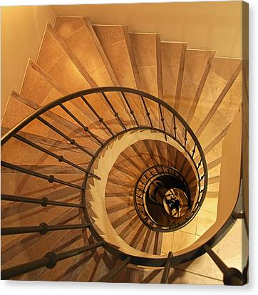 Spiral Staircase Canvas Print by Charles Briscoe-Knight