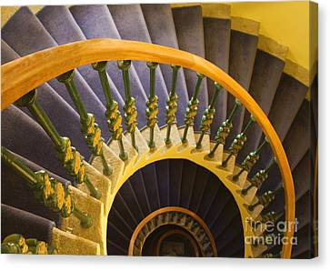 Spiral Staircase Canvas Print by David Buffington