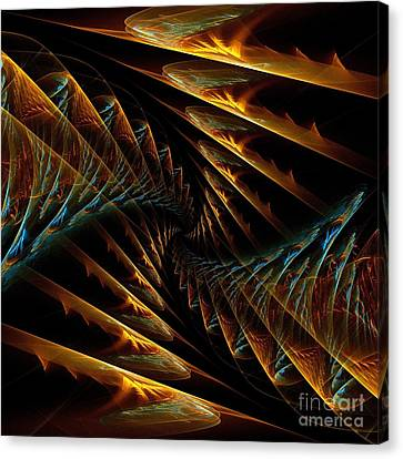 Spiral Staircases Canvas Print by Klara Acel
