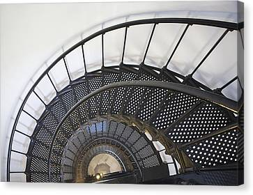 Spiral Stairway In Yaquina Head Canvas Print by Michael Interisano