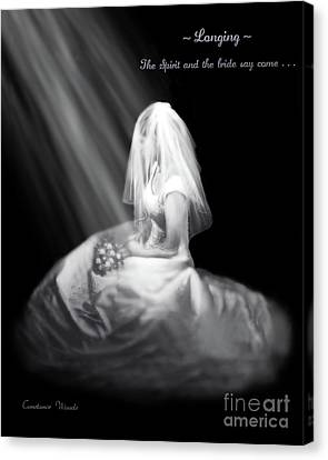 Spirit And Bride Say Come Canvas Print by Constance Woods
