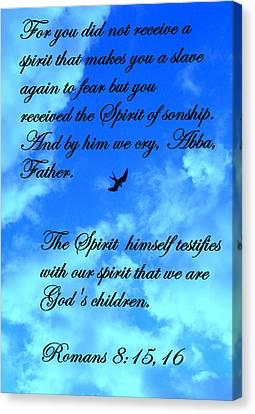 Spirit Of Sonship Canvas Print by Sheri McLeroy
