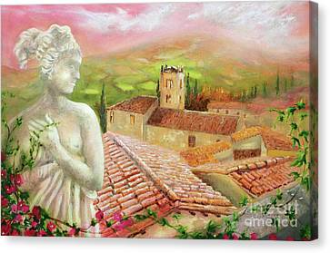 Canvas Print featuring the painting Spirit Of Tuscany by Michael Rock