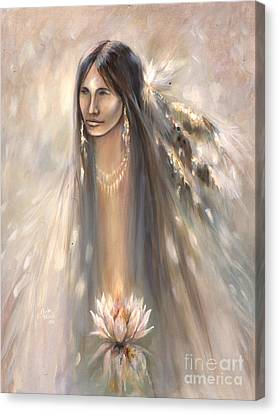 Spirit Woman Canvas Print by Charles B Mitchell