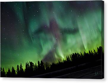 Spirits Of The Northern Nights Canvas Print by Steve  Milner