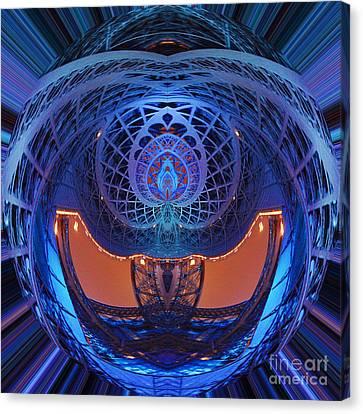 Spirograph Planet Canvas Print