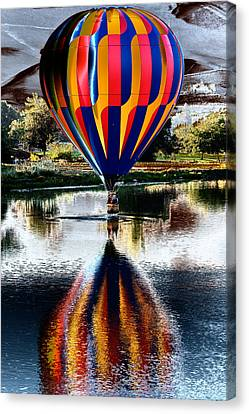 Splash And Dash With A Hot Air Balloon Canvas Print by David Patterson