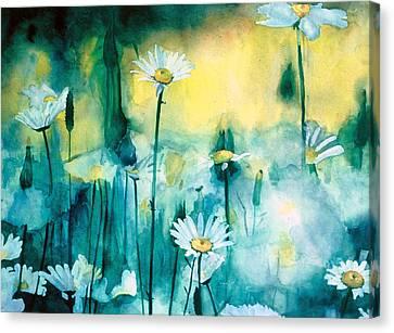 Splash Of Daisies Canvas Print by Cyndi Brewer