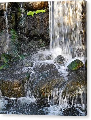 Canvas Print featuring the photograph Splashing Water Falls by Kirsten Giving