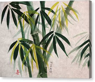 Canvas Print featuring the painting Splendid Bamboo by Alethea McKee