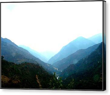 Splendors Of Himalayas-2 Canvas Print by Anand Swaroop Manchiraju