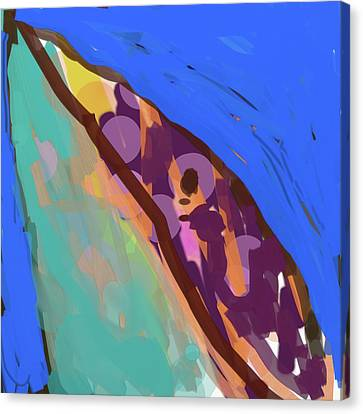 Splotchy Dolphin Greets The Day Canvas Print