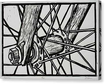 Spokes Canvas Print by William Cauthern