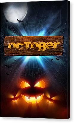 Spooky October Canvas Print by Bill Tiepelman