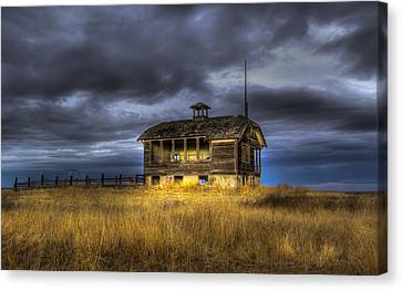 School Houses Canvas Print - Spot On The School House by Jean Noren