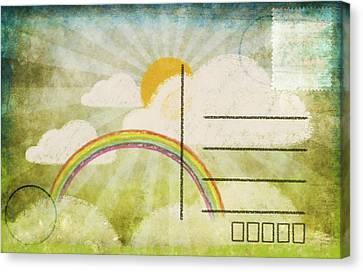 Spring And Summer Postcard Canvas Print by Setsiri Silapasuwanchai