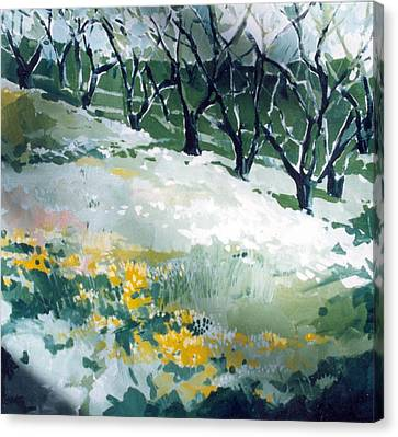 Canvas Print featuring the painting Spring by Andrew Drozdowicz