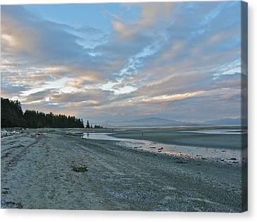 Canvas Print featuring the photograph Spring Beach by Brian Sereda