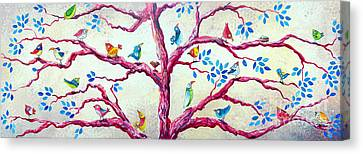 Spring Birds Canvas Print