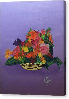 Canvas Print featuring the painting Spring Bouquet by Swabby Soileau