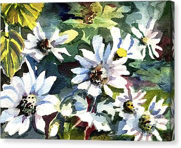 Spring Daisies Canvas Print by Mindy Newman