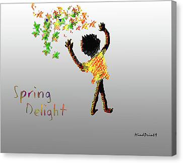 Canvas Print featuring the digital art Spring Delight by Asok Mukhopadhyay