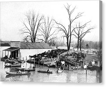 Spring Floods Canvas Print - Spring Flood, 1903 by Science Source