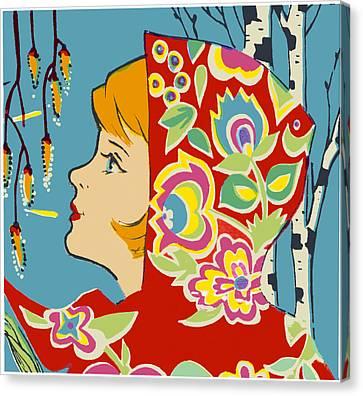 Spring Girl Poster Canvas Print