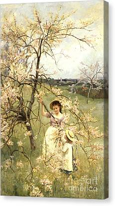 Spring Canvas Print by Henry George Todd