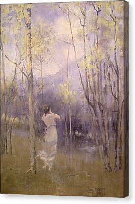 Ghostly Canvas Print - Spring In Moniaive by James Paterson