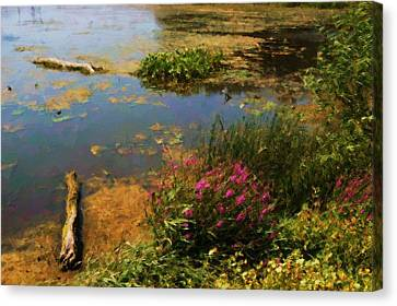Spring Lake Millpointe Park Canvas Print by Ritter Photography And Fine Art Images