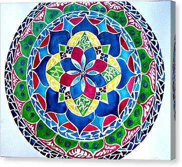 Spring Mandala Canvas Print by Sandra Lira