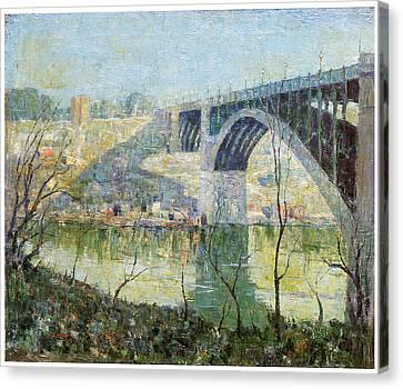 Spring Night Harlem River Canvas Print by Ernest Lawson