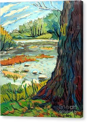 Spring River Eel Canvas Print