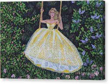 Spring Swing Canvas Print by William Ohanlan