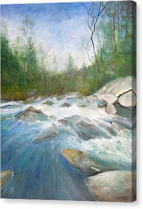 Spring Thaw Canvas Print by Max Mckenzie