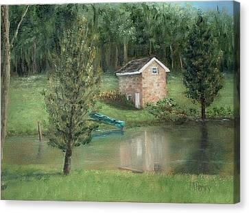 Springhouse Reflection Canvas Print