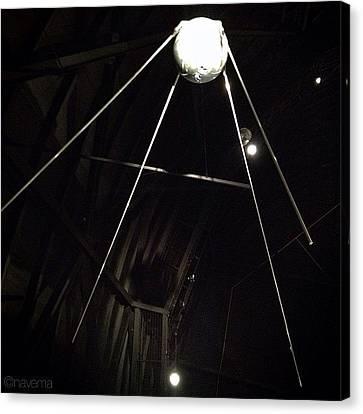 Sputnik 1: Space Age Began On Oct. 4th Canvas Print by Natasha Marco