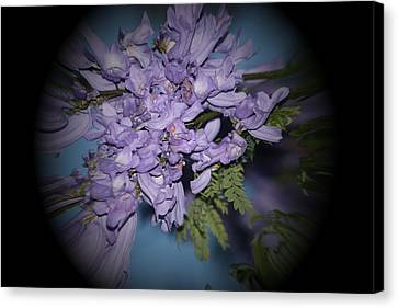 Spyglass Purple Canvas Print by Elizabeth  Doran