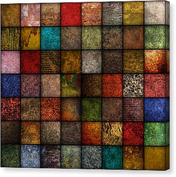 Square Earth Tone Texture Background Canvas Print by Angela Waye
