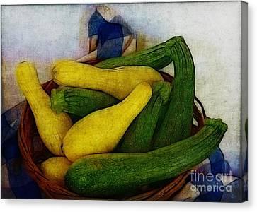 Squash Basket Canvas Print by Judi Bagwell