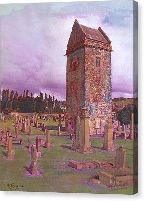 St Andrews Tower  Peebles Canvas Print by Richard James Digance